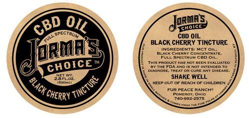tincture label
